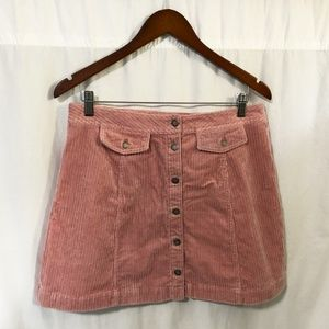 Divided Skirts - Divided corduroy button front mini skirt